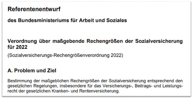 Referentenentwurf des Bundesministeriums für Arbeit und Soziales